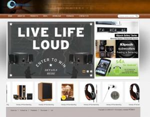 组合音响电器耳机网站(英文)